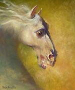 Oil Painting Original Canvas Angel Horse Size 20/24oil. By Gia Basilia