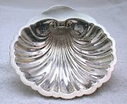 7 X 1 1/4 Inch Sterling Silver Scalloped Shell Candy Trinket Dish Bowl As142