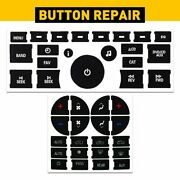 For Gm Gmc Chevy Radio + A/c Climate Control Button Repair Decals Stickers 1 Set