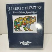 Liberty Wooden Jigsaw Puzzle Grizzly Bear By Sue Coccia 471 Pcs Free Shipping