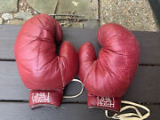 Vintage Awesome And Huge Pr Of Hutch Leather Boxing Gloves D-16