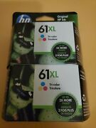 Hp 61xl Tri-color Ink Cartridge Brand New - Exp 11/2022 2 Pack Combo
