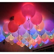 Led Light Up Balloons 40 Pack Glow In The Dark Party Supplies Neon