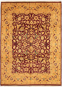 Vintage Geometric Hand-knotted Carpet 9and0390 X 12and0393 Traditional Wool Area Rug