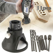 Dremels Rotary Multi Tool Cutting Guide Hss Router Drill Bits Set Attachment J-