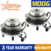 2 Moog Front Wheel Bearing Hub Assembly For 98-04 Chevy Blazer Gmc Jimmy W/abs