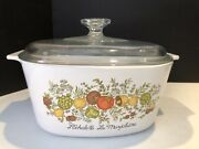 Rare Stamped Vintage Corning Ware Spice Of Life La Marjolaine A-2-b 3 Qt Dish