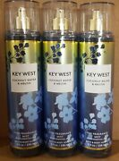 Key West Coconut Water And Melon Bath And Body Works Lot Of 3 Fragrance Mist Sprays