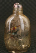 Chinese Exquisite Handmade Hair Crystal Snuff Bottle