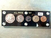 1953 Us Mint Proof Set Cent Thru Half Dollar All Coins Choice In Capital Holder