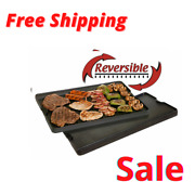 Camp Chef Pre Seasoned Cast Iron Reversible Griddle And Grill Cook Top, 16 X 24