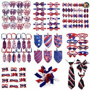 4th July Pet Dog Bandana Hair Bows Large Small Dog Tie Neckties Pets Accessories