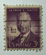 Us 3 Cent Alfred E Smith Postage Stamp 1945 Scott 937 Vg/f Us118