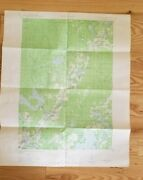 1944 Geographic Map Hayward Wi Cable Up North Lakes Flowage Namakogin River