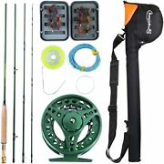 Saltwater Freshwater Fly Fishing Rod 8.5 Feet Reel Combo Kit Complete Package.