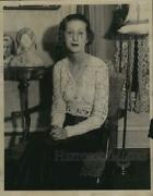 1934 Press Photo Jane Bruce, One Of The Directors's Of St. Margaret's Gulld