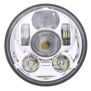 7 Round Led Headlight High Low Beam Waterproof For Harley Sportster Dyna