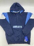 Charlotte Starter Quarter Zip Jacket Size Med New With Tags