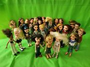 Huge Lot Of 25 Vintage Bratz Dolls 1st Ed 2001 + Boys 2003 With Dresses And Shoes