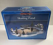Christmas Decorations Holiday Time Village Collectibles Ice Skating Pond Snow