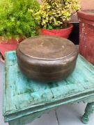 Primitive Antique Hand Carved Brass Indian Kitchenware Chapati Container Box