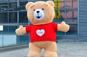 2m Teddy Bear Inflatable Mascot Costume Suit Cosplay Party Game Dress Halloween