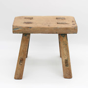 Chinese Old Antique Small Wooden Stool, Old, Solid Wood, Imported From China