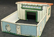 Marx Chicken Coop For Growing Farm Playset Tin Litho, O Scale Building, Rare