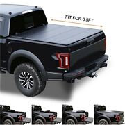 6.5and039/78.7 Hard Quad-fold Truck Bed For 2007-2015 Toyota Tundra Tonneau Cover