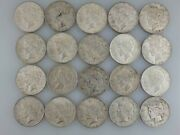 Lot Of 20 1922 D Peace Silver One Dollar Coin Circulated 90 Silver 10 Cooper