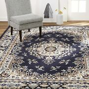 Large Area Rugs For Living Room 8x10 Clearance Navy Blue Indoor Carpet Under 100