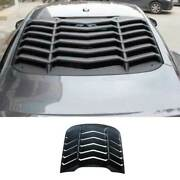 Sport Matte Black Tail Rear Window Louver Shutter Trim For Ford Mustang 2015-21