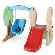 Kids Slide Backyard Play Set Little Tikes Hide And Seek Climber And Swing Ages 1-4