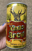 Yellow Schell's Xmas Brew Beer Can Steel Bottom Opened Great Shape