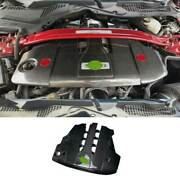 5.0t Carbon Fiber Engine Hood Radiating Protection Cover For Ford Mustang 18-21