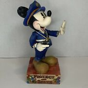 """Jim Shore Walt Disney Traditions Mickey Mouse """"protect And Serve"""" 4007664 Enesco"""