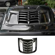 Carbon Fiber Tail Rear Window Louver Shutter Trim 1pc For Ford Mustang 2015-2021