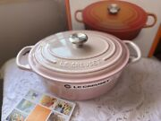 Le Creuset Shell Pink Oval Cast Iron 25 New With Box