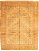 Vintage Geometric Hand-knotted Carpet 9and0391 X 12and0390 Traditional Wool Area Rug