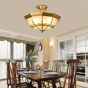 Vintage Ceiling Lamps Stained Glass Chandelier Lighting Fixture 6-light