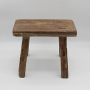 Chinese 50 Years Antique Small Stool, Solid Wood