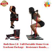 Bodyboss 2.0 - Full Portable Home Gym Workout Package + Resistance Bands...