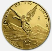 Libertad – Mexico – 2020 1/2 Oz Proof Gold Coin In Capsule Mintage Of 250 Coins