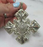 Vintage Reed And Barton 1976 Sterling Christmas Cross Ornament 15.4g 3-b259