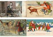Santa Claus Father X-mas Collection Of 200 Vintage Postcards With Better L3761