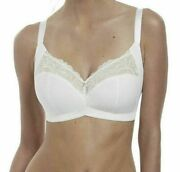 Fantasie Memoir Bra White Size 36f Non Wired Full Cup Side Support Lace 3022