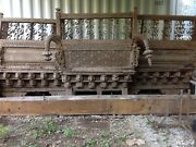 Architectural Antique Balcony From India. Andnbspcarved Teak Wood And Forged Iron.andnbsp