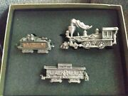 Fort Usa Fine Pewter Collectibles Santa's Express Christmas Train Set In Box