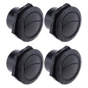 4 Pieces Marine Yacht Round Conditioning Outlet Grill 70x45mm Black