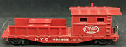Marx Ho New York Nyc 499898 Work Caboose / Flat Boom Car. Red, Rare, Vintage